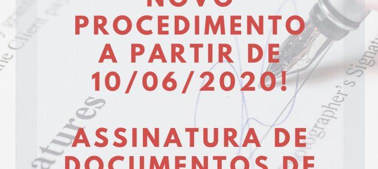Novo procedimento de assinatura de documentos de estágio não obrigatório